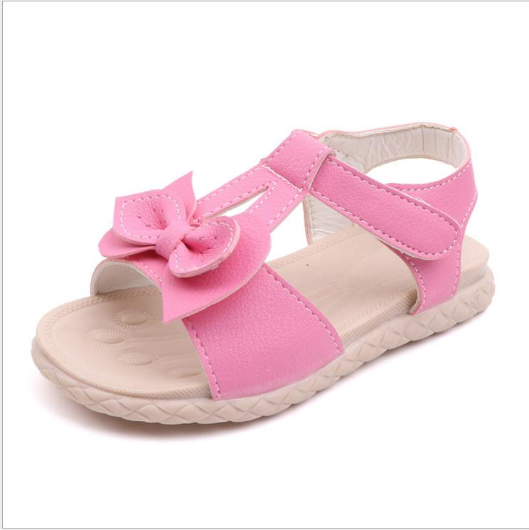 2019 new leather girls sandals white summer walker shoes with bow antislip sole kids toddler girls sandals soft beach shoes2019 new leather girls sandals white summer walker shoes with bow antislip sole kids toddler girls sandals soft beach shoes