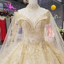 Aijingyu 새로운 웨딩 드레스 결혼 착용 가운 신부 디자이너 최신 vintages 간단하고 가운 소녀 웨딩 드레스
