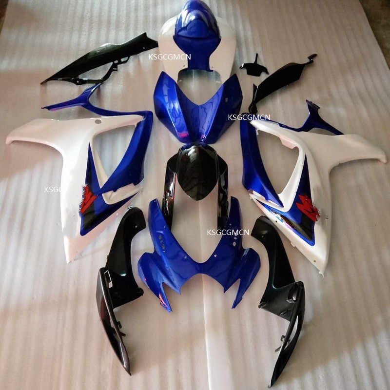 Fit For SUZUKI GSXR600 k6 06 07 GSXR750 06-07  white blue black GSX R600 K6 R750 GSXR 600 750 2006 -2007 Fairing white  black