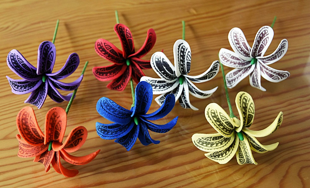 Free Shipping F0010 144pcs/ Lot 7CM 8 Colors Foam Tiare Hair Pick  Women Wear Hair Accessories Hawaii Tropical Flower