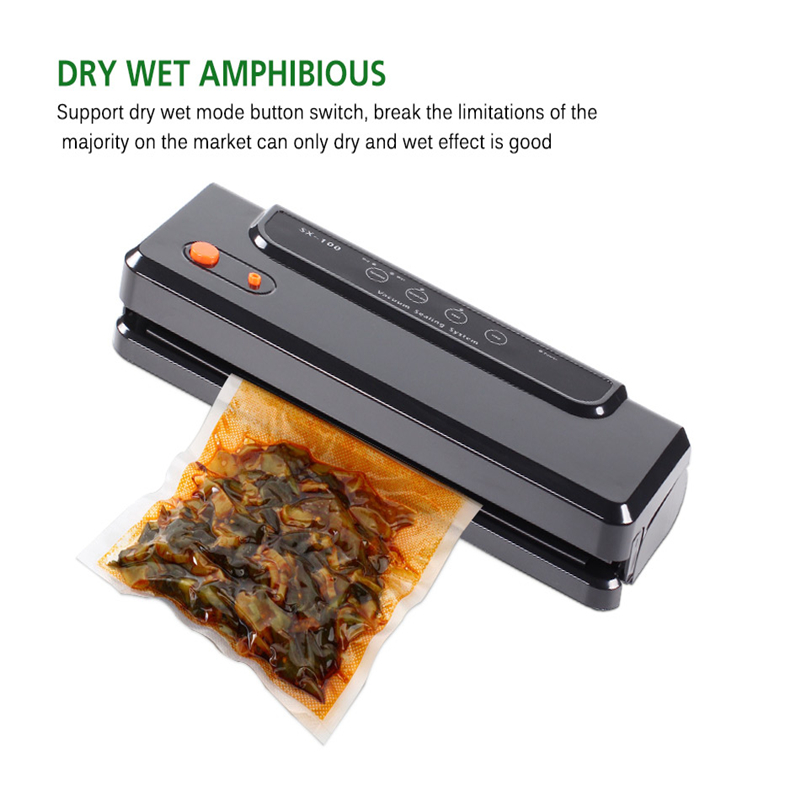 Image 5 - Household Multi functional Vacuum Food Sealer Automatic Vacuum Packer Vacuum Packing Machine with 10pcs of  Bags Food Saver-in Vacuum Food Sealers from Home Appliances
