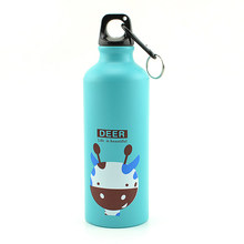 500Ml Portable Water Bottle Cute Animal Pattern Water Cup practical Outdoor Exercise Sports Aluminum hydro flask For Kids tools(China)