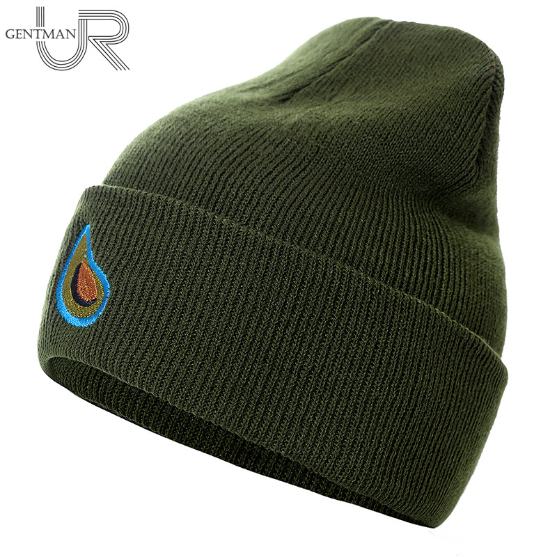 Unisex Autumn Winter   Beanie   Hat Avocado Embroidery Winter Hats For Women Men Knitted Hats Acrylic Flexible Casual Outdoor Cap