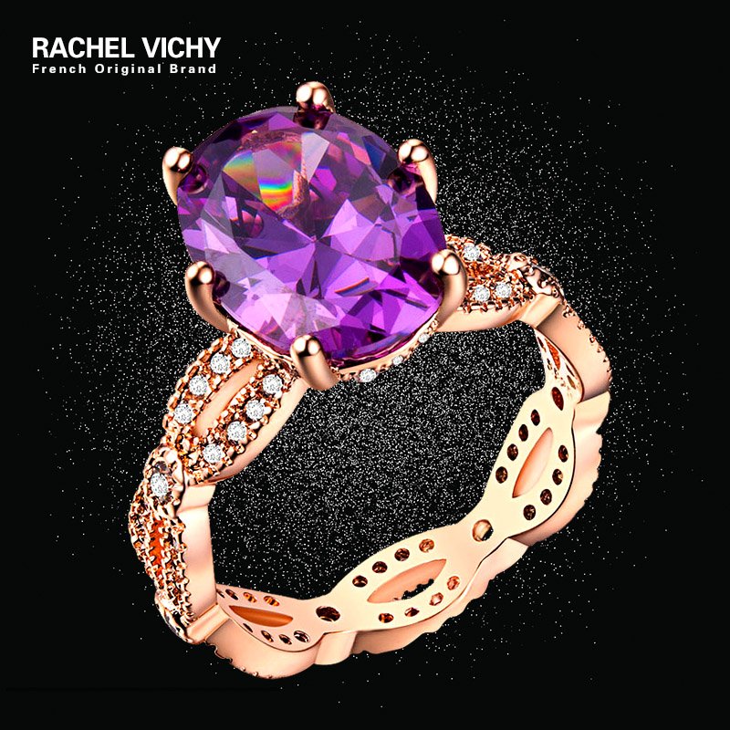 Bohemian Black Purple Stone Rings For Women Accessoires Wave Size 5-10 Ladies Mom Cz Crystals Cubic Zirconia Fashion Jewelry Wide Selection; Back To Search Resultsjewelry & Accessories