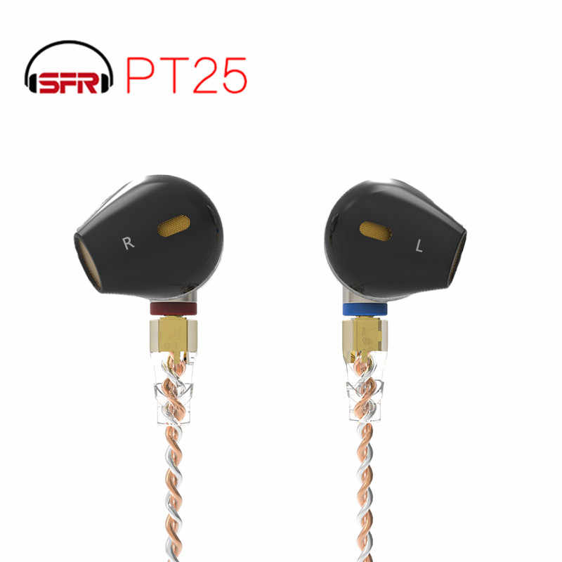 SENFER PT25 Semi-ear earplug type headset fever flat plug HIFI unit graphene with Replaceable MMCX cable PT15 DT6 M10 DT8 IM1 T2