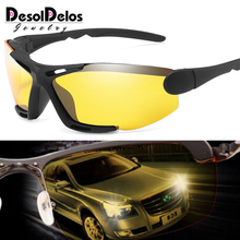 Unisex Night Vision 100% UV400 Polarised Driving Sun Glasses For Men Polarized S