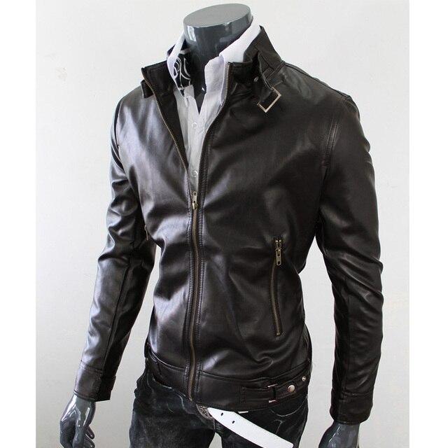 Men leather Jackets Male PU Faux Leather Clothing Fashion slim motorcycle leather Coat Autumn brand jackets jaqueta masculina