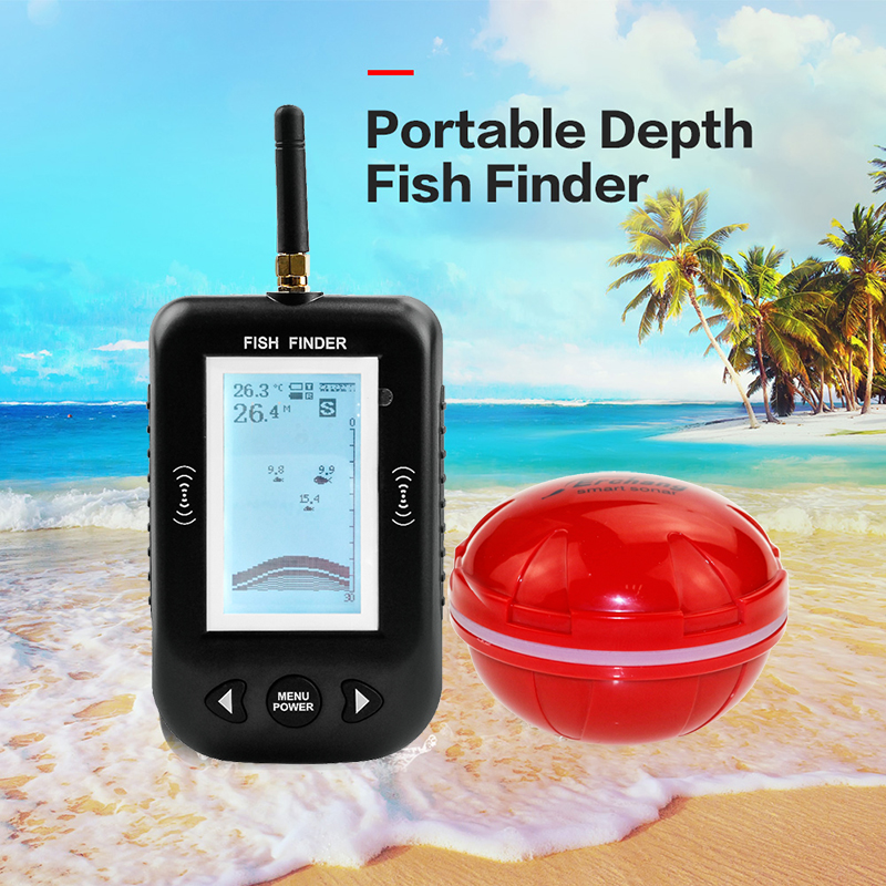 Erchang F3 Portable Depth Fish Finder 100m Wireless Fishfinder With Fishing Alarm Echo Sounder Sonar For Lake Sea Fishing portable smart lcd depth fish finder with 100m wireless sonar sensor fishing lure echo sounder fishfinder for lake sea fishing
