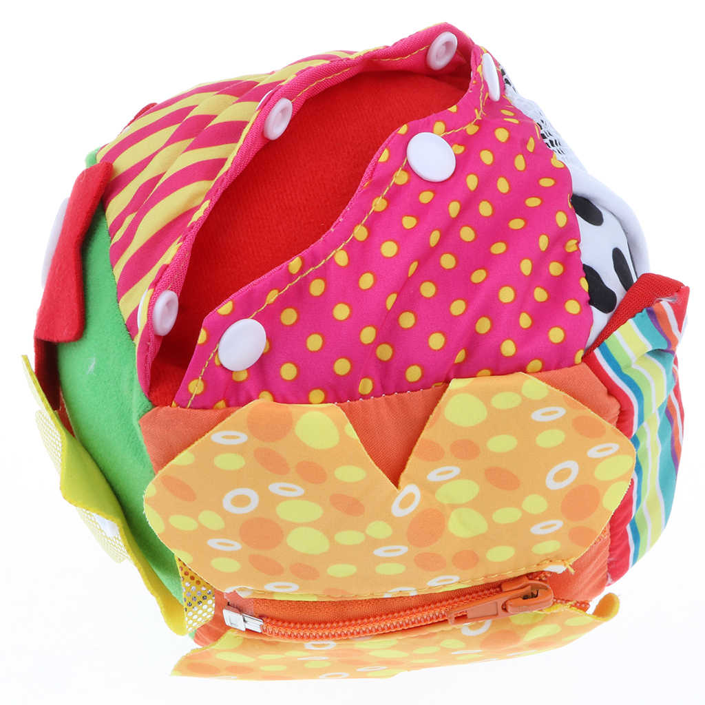 Детская Ткань шнурки на Молнии Кнопка обучения Куб Блок игрушка для маленьких детей игрушки для детского сада