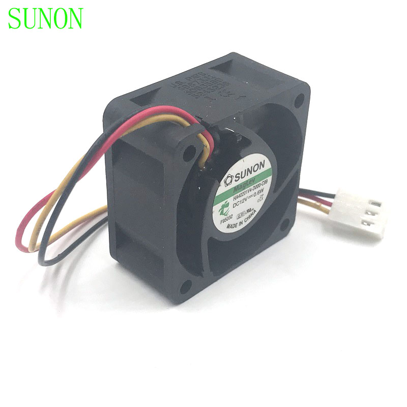 10pcs lot SUNON HA40201V4 D000 C99 4cm 4020 12V 0 6W 3wire silent axial cooling fan