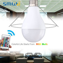Smuxi 5W 10W 16Colors Changing LED Lamp E27 B22 RGB LED Light Bulb Spotlight Chandelier Lighting with Remote Control AC85-265V