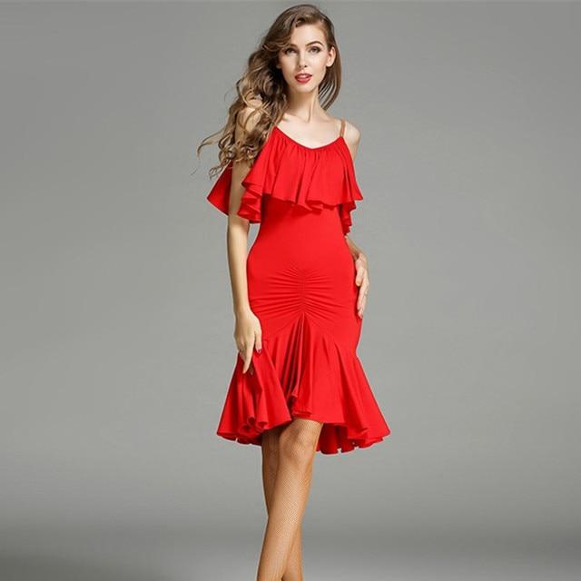 Aliexpress.com : Buy red latin dance dress fringe women latin ...
