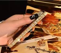 For Iphone 6PLUS GOLD PHONE CASE EDGE 5 5 INCH LUXURY Diamond Metal Phone Cover Coque