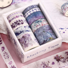 10 Pcs/Set Cute Daun Tanaman Washi Tape Kawaii Bunga Masking Tape Whale Pita Dekoratif untuk Stiker Scrapbooking DIY Foto Album(China)