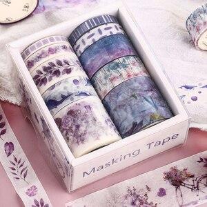 10Pcs/Set Cute Plant Leaves Washi Tape Kawaii Flower Masking Tape Whale Decorative Tape For Sticker Scrapbooking DIY Photo Album