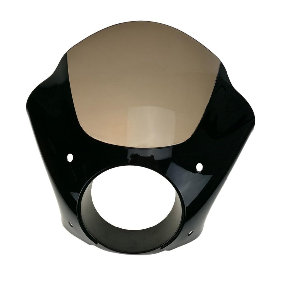 Headlamp Visor Cowl Headlight Fairing Mask + Trigger Lock Mount Kit For Harley Sportster 883 1200 Dyna Super Glide Low Rider C/5 black gauntlet headlight fairing w trigger lock mount kit for harley xl 1200 883 freeshipping d15
