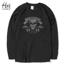 HanHent Crossfit Skull T Shirts Men 2016 Novelty Tops Tees Bodybuilding T-Shirt Fitness Sportswear Swag Cotton Tshirt workout