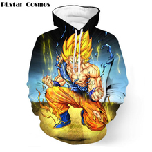 PLstar Cosmos Classic anime Dragon Ball Z Super Saiyan hooded sweatshirt Men Women Anime Goku/Vegeta 3D All Over Print Hoodies где живут зверята