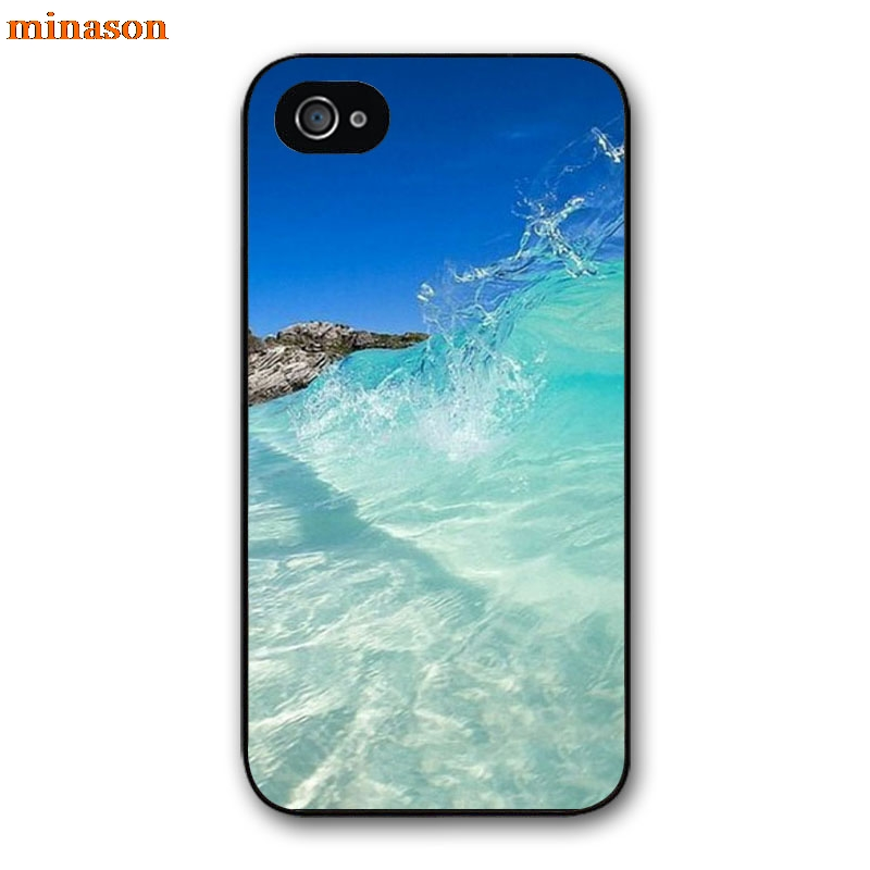 minason Surfing In <font><b>Hawaii</b></font> Ocean Scene <font><b>Phone</b></font> Cover <font><b>case</b></font> for iphone 4 4s 5 5s 5c 6 6s 7 8 plus samsung galaxy S5 S6 Note 2 3 F1013