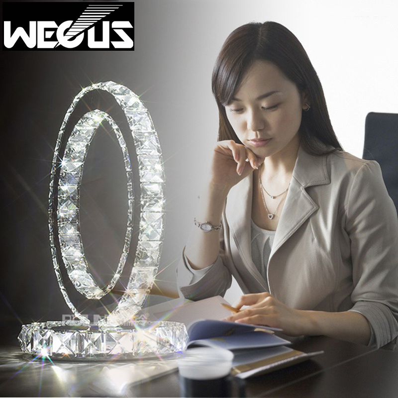 Creatieve romantische kristallen tafellamp 85-265 V D300mm led - Binnenverlichting