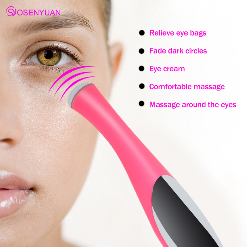 Ultrasound Therapy Fomentation Remove Under-eye Bags Wrinkles Dark Circle Skin Care Beauty Device Home Spa Eye Massager