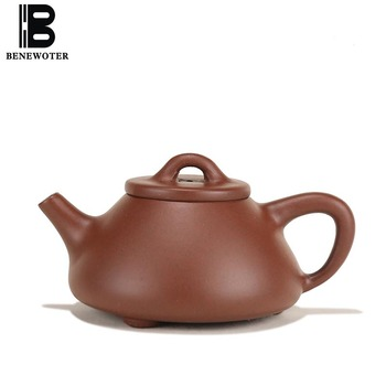 140cc Yixing Purple Clay Pot Health Raw Ore Zi Mud Mini Stone Scoop Zisha Teapot Drinkware Home Tieguanyin Kettles Ball Holes
