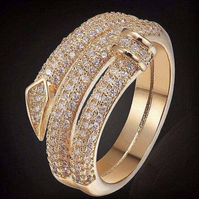 Luxury Brand Copper Women Wedding Rings Fashion Men Jewelry Perfect