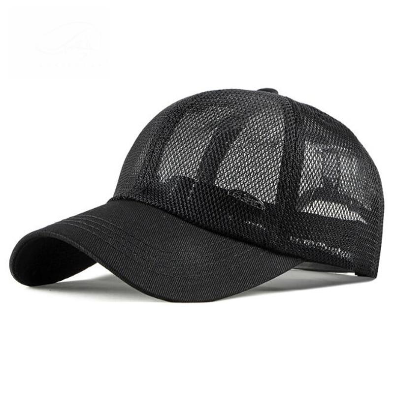 Hollow Mesh Tide Cotton Breathable Baseball Caps Fashion Simple Outdoor Sport  Sunscreen Unisex Sun Visor Snapback Hat