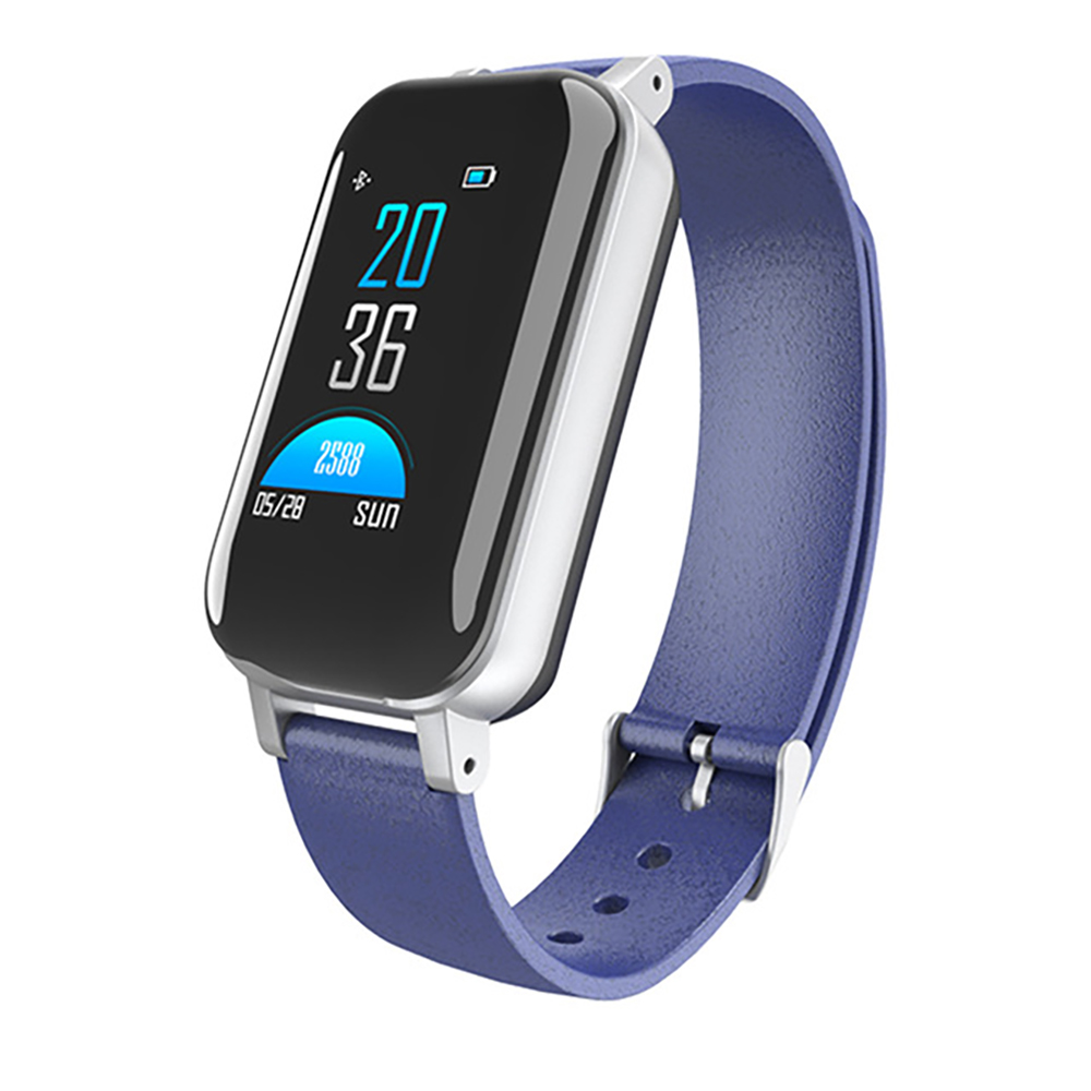2 In 1 <font><b>T89</b></font> <font><b>TWS</b></font> Newest Smart Watch With Bluetooth Earphone Bracelet Heart Rate Monitor Smart Wristband Sport Watch Men Women image