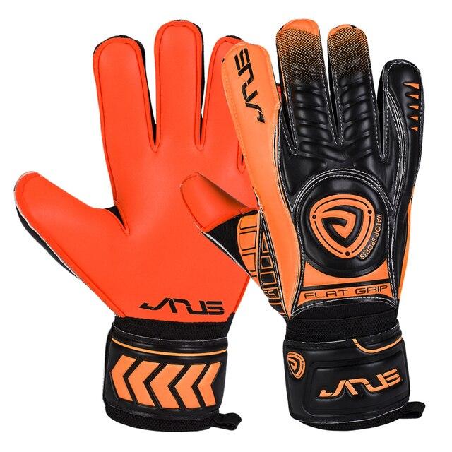 8b99f5ab9 Kids Mens 4mm thick Germany latex goalie soccer gloves professional  football goalkeeper gloves finger guard goalie