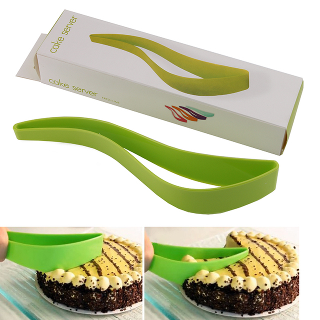one-piece cake knife tool One cut the cake blade cutter blade is the bread and butter cake baking gadgets spatula Not dirty hand