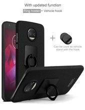 For MOTO Z2 Force case iMak Cowboy Frosted Phone Cases For MOTO Z2 Force Case + iMak Screen Protector +Ring Holder