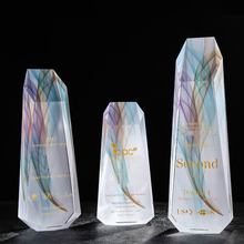 Hot Inclined Plane Colour Printing The Summit Of Iceberg Crystal Trophy Customized Awards Match Prize Excellent Staff Trophy Cup цена