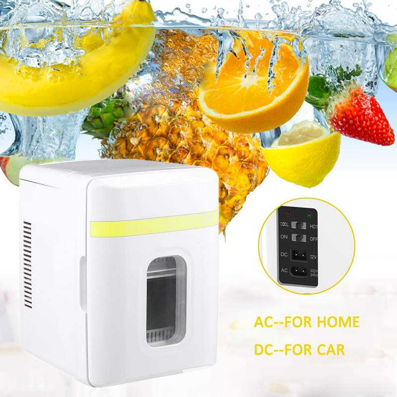 10L Refrigerator Two Type Electrical Cooler Cooler&Warmer Cosmetics Fridge For Hiking