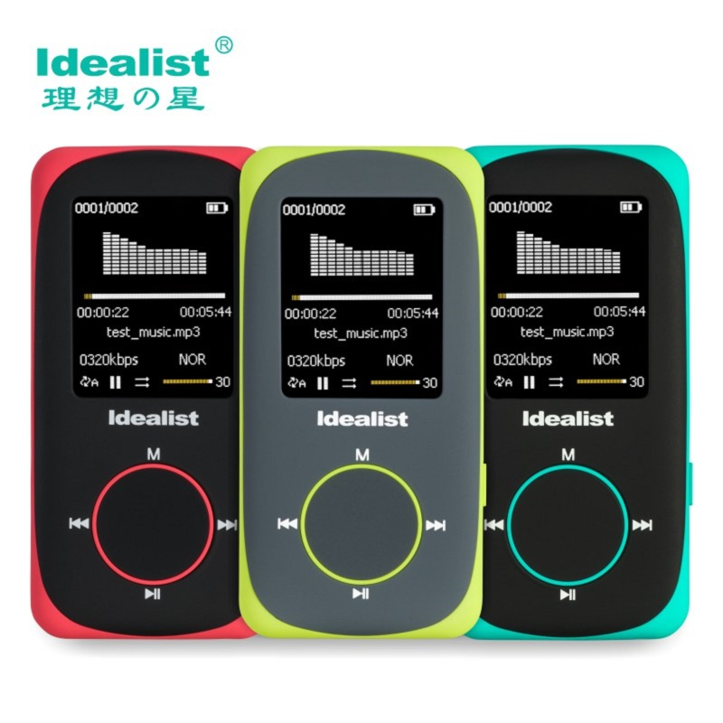 Idealist Sport HIFI Running MP3 Player 1.8 Lossless MP4 Player Support Picture Recording Video TF With Earphone Armband Speaker image