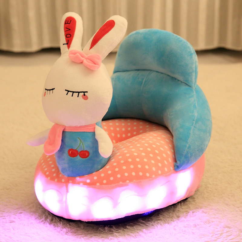 NEW Cartoon plush luminescent Music sofa Baby Kids Bean Bag Children Toys Children Plush Fabric Toys Without Filler Inside Cover