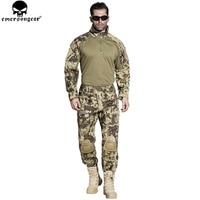 EMERSONGEAR G3 Tactical Shirt Pants with Knee Pads US Army Camo Airsoft Paintball BDU Uniform Pants Shirt MR EM7046 EM8593
