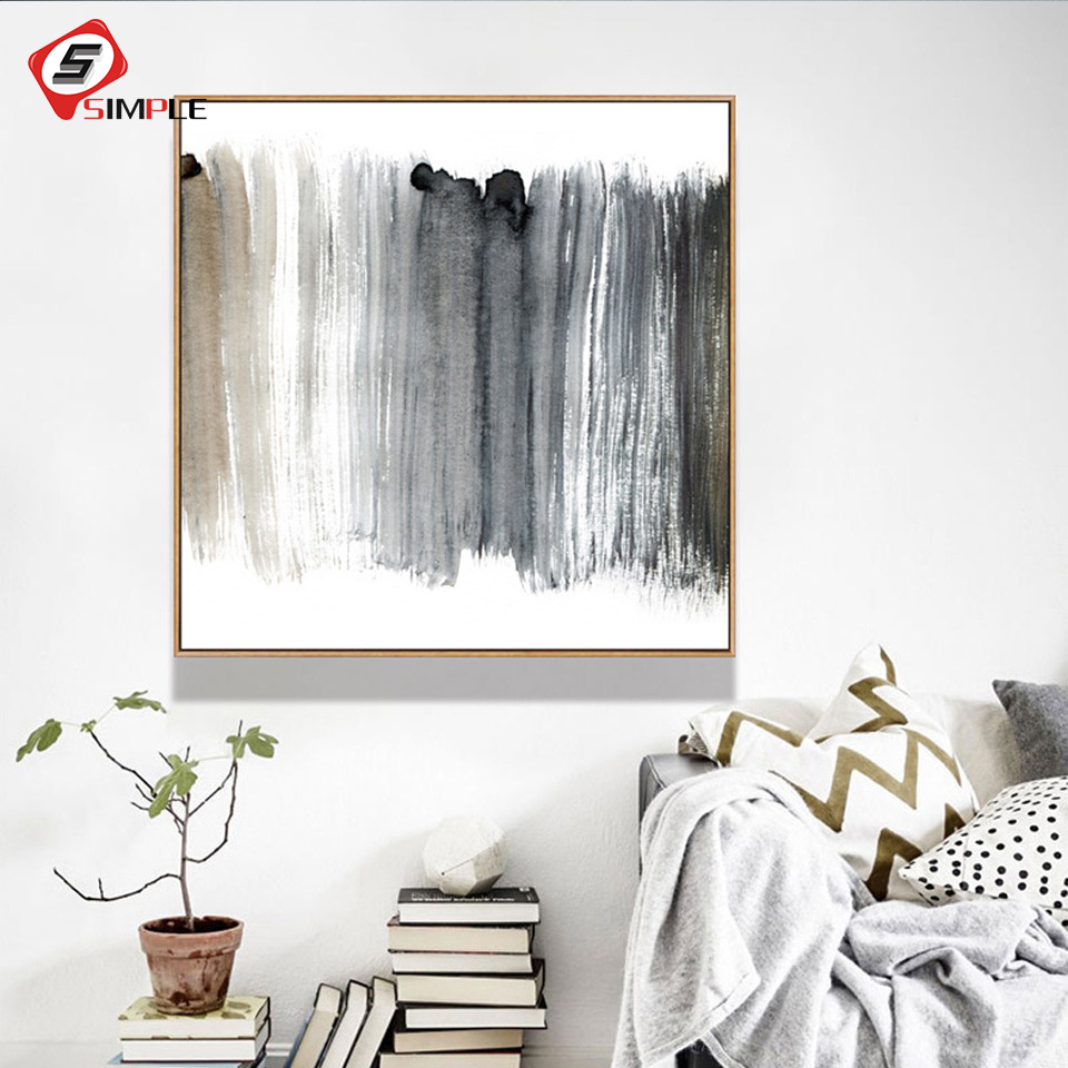 Affiche Scandinave Home 4 61 26 De Réduction Affiche Abstraite Scandinave Noir Blanc Toile Peinture Nordique Art Imprimer Mur Photo Salon Home Decor Moderne No Frame