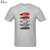 Stack of Alfa 75 Milano Tipo 161 T-shirt Men Man's Leisure Short Sleeve Cotton Custom XXXL Group Shirts