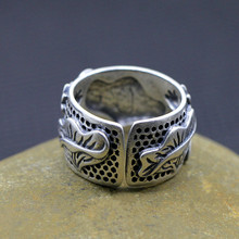 Thai silver Silver products Silver Jewelry exquisite lotus leaf retro ring opening of new shipping