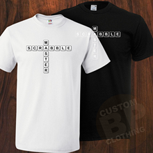New Scrabble Master Inspired Tshirt, Wear With Pride, Black Or White, Small_XXXL 100% Cotton T-Shirts For Man