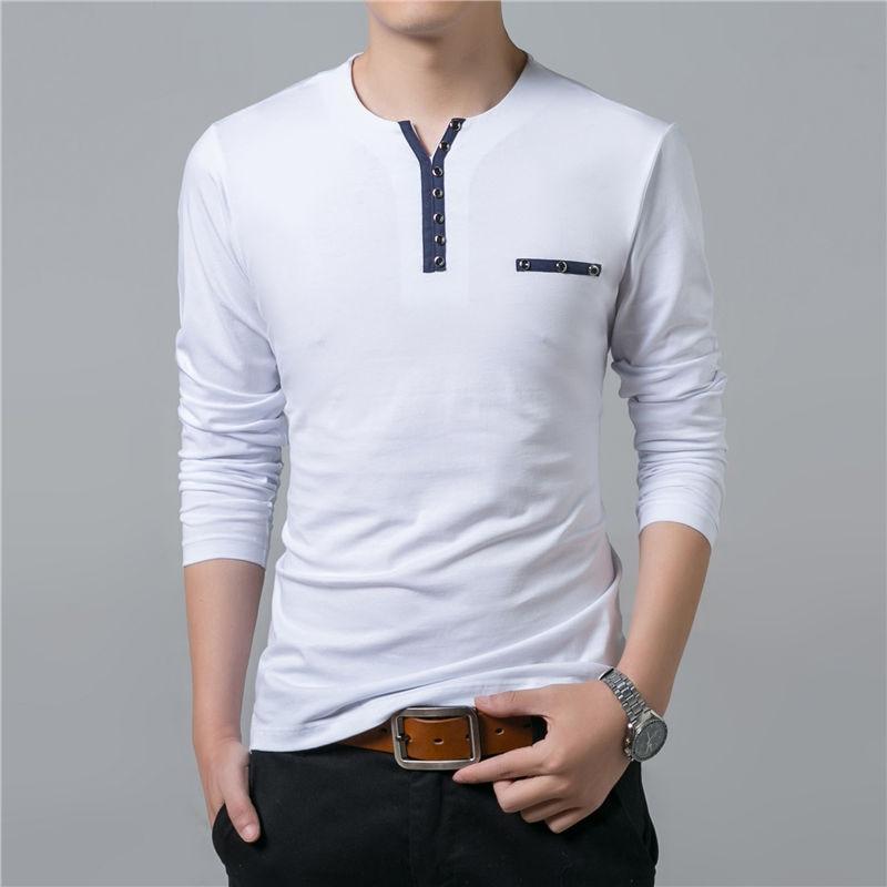 HTB1jMbIPpXXXXX1aXXXq6xXFXXXh - COODRONY Cotton T Shirt Men 2018 Spring Autumn New Long Sleeve T-Shirt Men Henry Collar Tee Shirt Men Fashion Casual Tops 7617