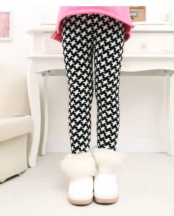 VEENIBEAR Newest Winter Girl Leggings Velvet Thicken Warm Star Print Girl Pants Kids Children Pants Winter Girl Clothing 2-7T 2