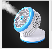 Air conditioner spray mini electric fan refrigerator bed student dormitory water spray USB charged handheld portable 1pc