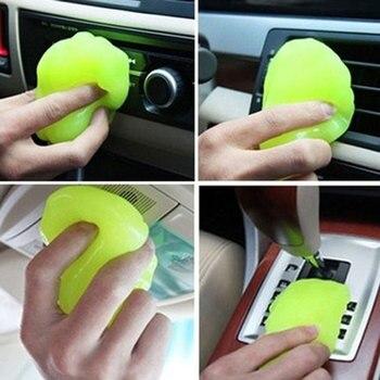 Random color send magic car vent air outlet storage box panel door handle dust glue cleaner.jpg 350x350