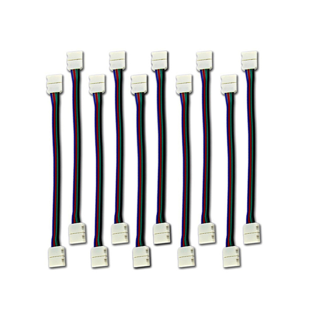 10pcs led rgb strip light connector 4 conductor 10 mm wide strip to 10pcs led rgb strip light connector 4 conductor 10 mm wide strip to strip jumper led aloadofball Images