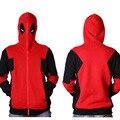 2016 Outono Inverno Camisolas dos homens Deadpool Marvel X-Men Grosso Hoodies da Forma Dos Homens Casaco Com Capuz para Homens plus Size JA7086