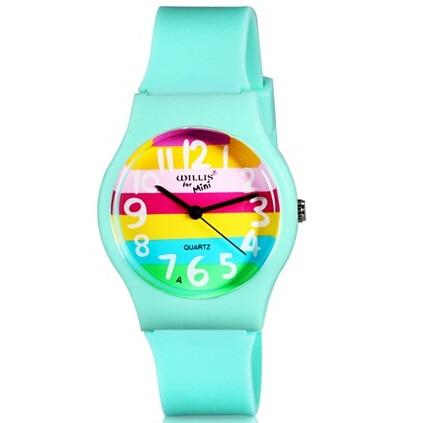 WILLIS Brand Watches Women Rainbow Design Lovely Color Quartz Watch For Kid Life