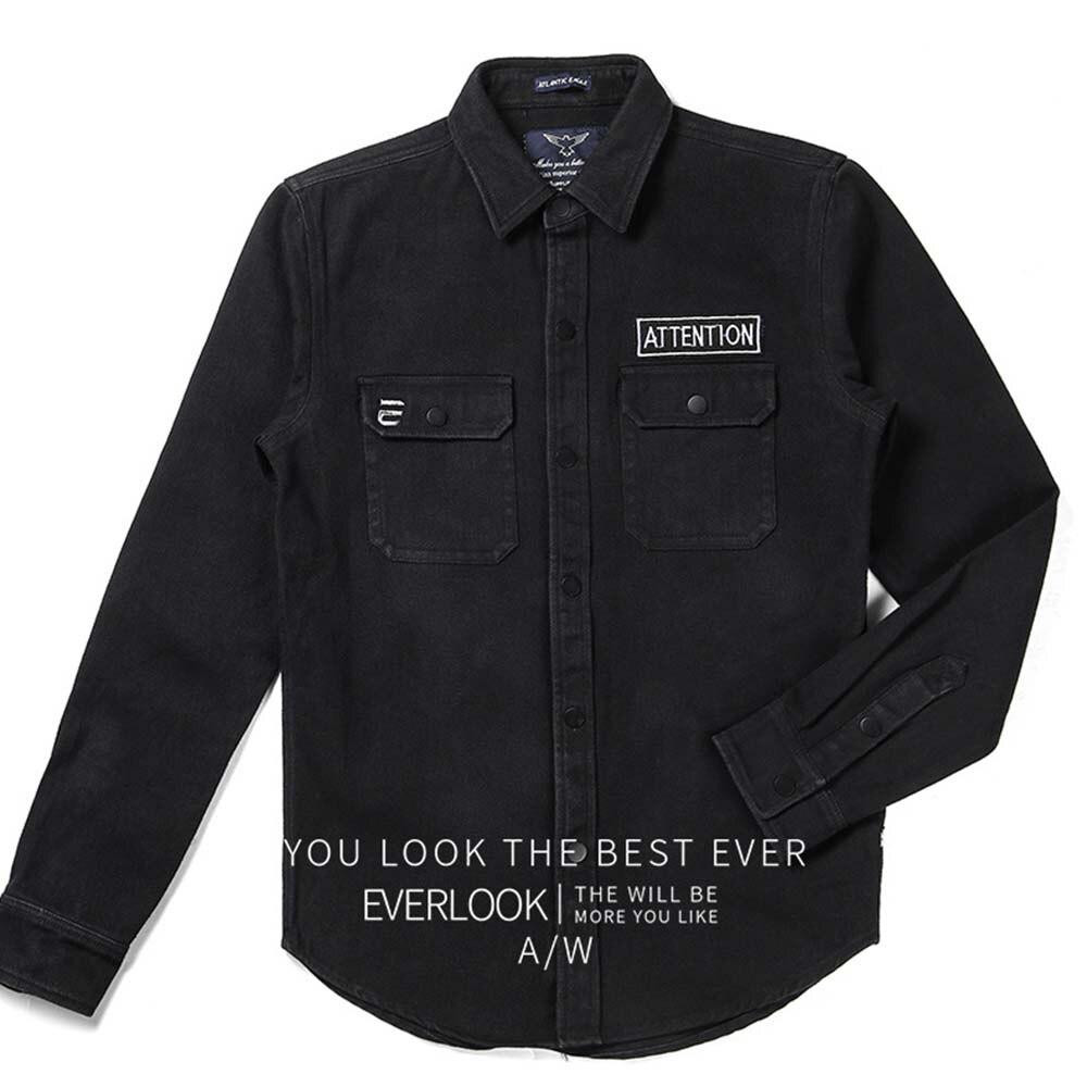2018 Denim Jacket New For Men Fashion Black Coat Casual Jacket Spring Autumn Jaqueta Masculina Free Shipping 3350