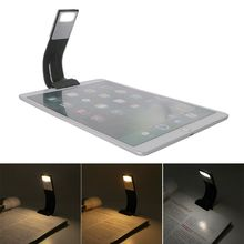 3 Colors Adjustable USB Rechargeable LED Book Light with Detachable Removable Clip Night Reading Lamp